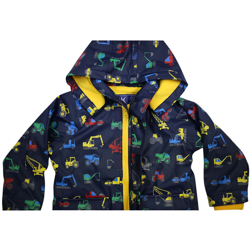 Korango Raincoat Navy Excavator at Baby Barn Discounts Beautifully designed, bright & fun raincoat from Korango.