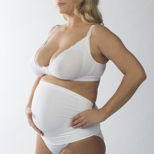 New Beginnings Back Support Tube White at Baby Barn Discounts Provides support for your lower back and pelvis during pregnancy without the bulk of extra fabric.
