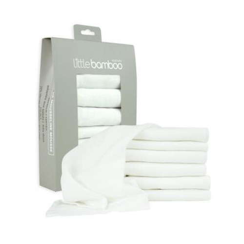 Little Bamboo Muslin Face Washers 6 Pack
