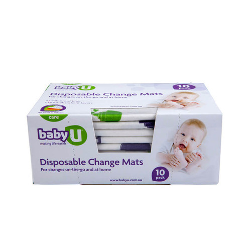 Baby U Disposable Change Mats 10 Pk