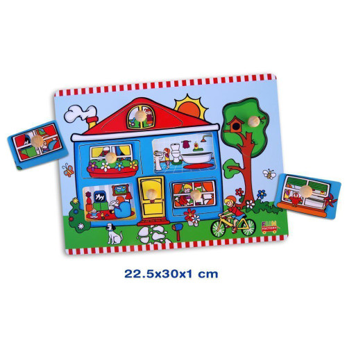 Fun Factory Wooden My House Puzzle with Knobs