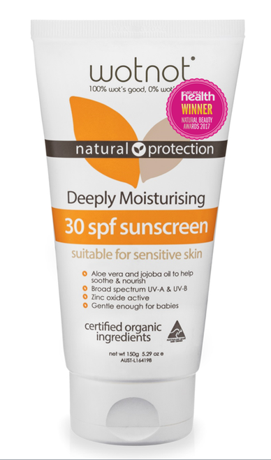 Wotnot 30 SPF Natural Sunscreen 150g