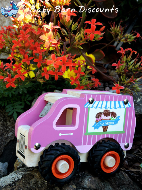 Kaper Kidz Fun Ice Cream Truck with Rubber Wheels