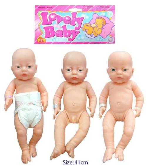 La Belle Anatomically Correct Newborn Baby Doll 41cm
