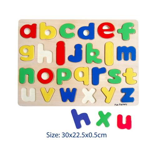 Fun Factory Raised Wooden Puzzle Lower Case Alphabets