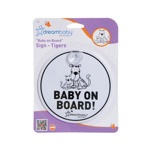Dreambaby Baby on Board Sign - Tiger Family