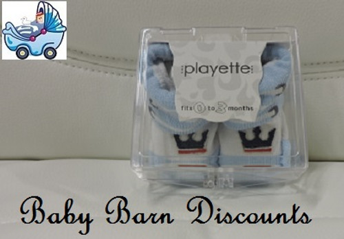 Playette - Bootie Socks - Blue - 0-3 Months
