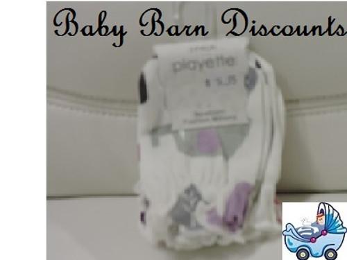 Playette - Newborn Fashion Mittens - 3 Pk - Purple/Pink