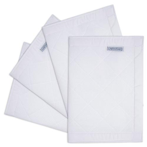 The Little Linen Airwrap Breathable Cotton Muslin 4 Side Bumper - White
