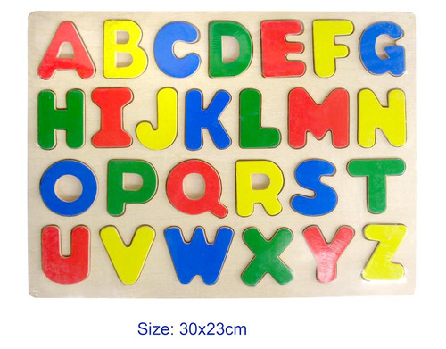Fun Factory Raised Wooden Puzzle Upper Case Alphabets
