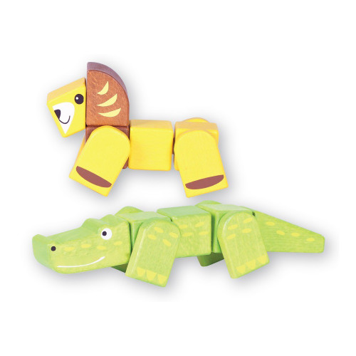 Discoveroo Snap Blocks - Lion and Crocodile