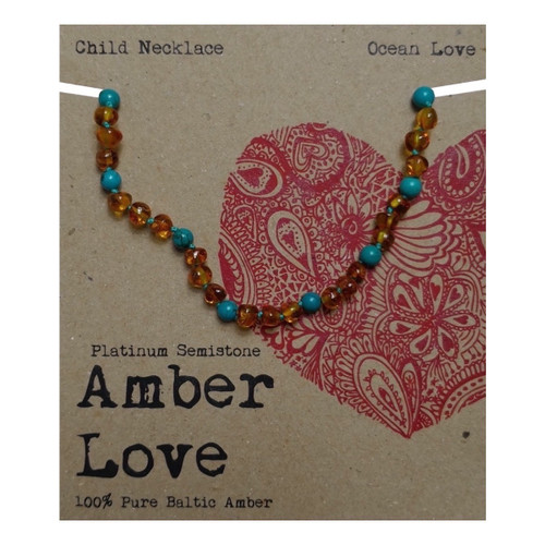 Amber Love Baltic Amber and Semi Precious Stone Child Necklace