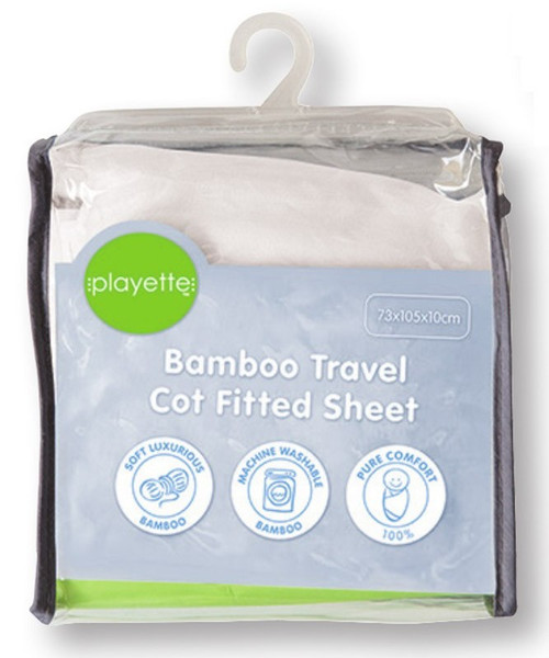Playette Travel Cot Fitted Sheet Bamboo