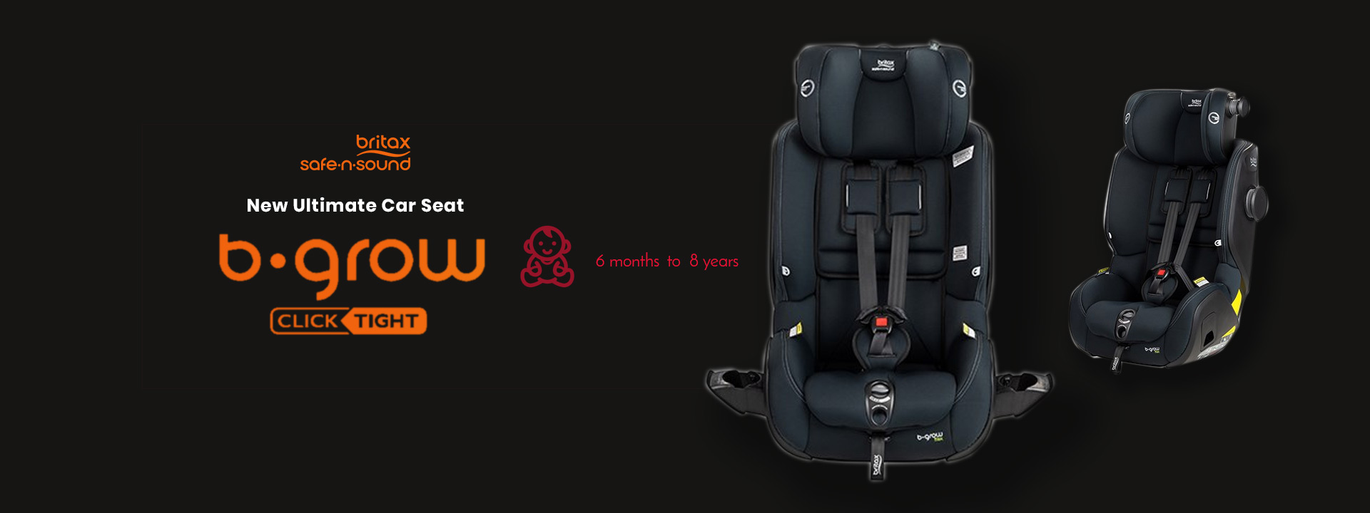 The 'New' Ultimate Car Seat - B Grow Clicktight Tex