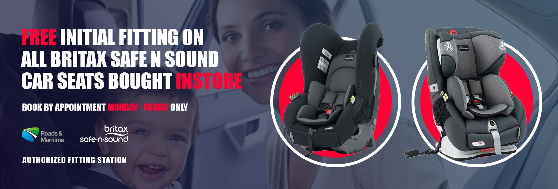 free fitting all britax safe n sound car seats bought instore only