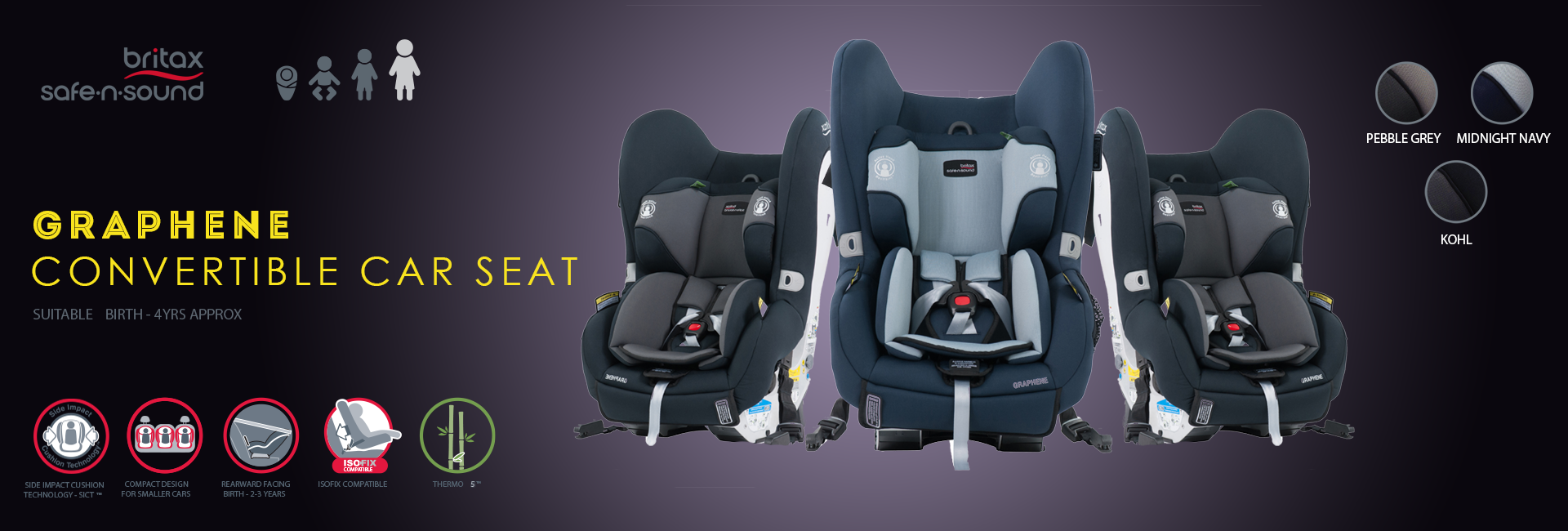 Britax Graphene Convertible Car Seat