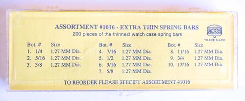 SPRING BAR ASSORTMENT 200 PIECES