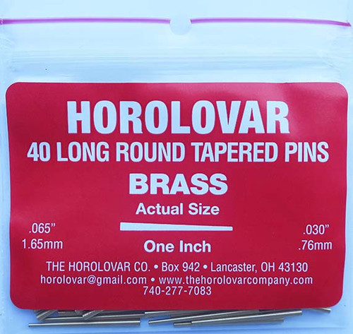 HOROLOVAR TAPERED RED BRASS PINS