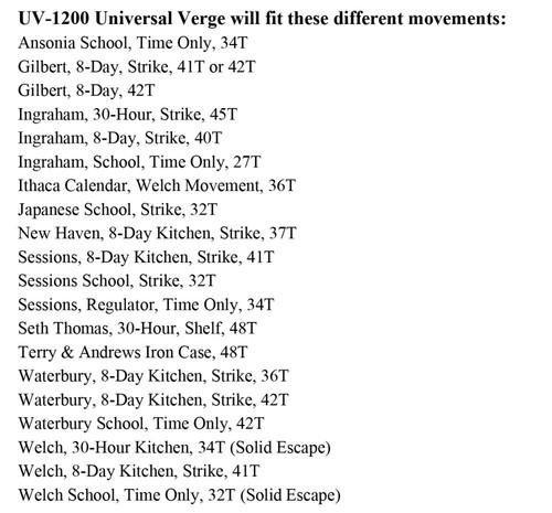 UNIVERSAL VERGE UV-1200