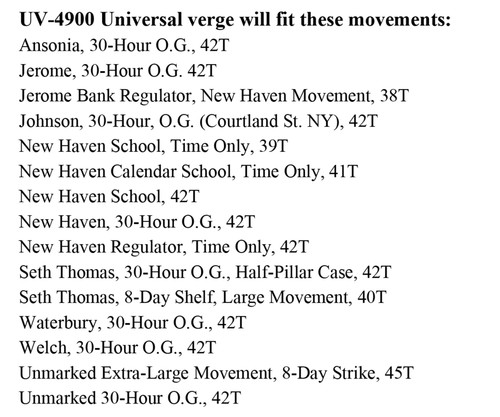 UNIVERSAL VERGE UV-4900