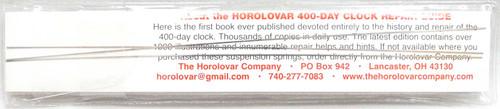 HOROLOVAR 400-DAY CLOCK SUSPENSION SPRINGS