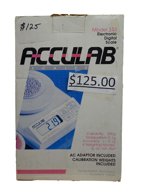 ACCULAB ELECTRONIC DIGITAL SCALE MODEL 333
