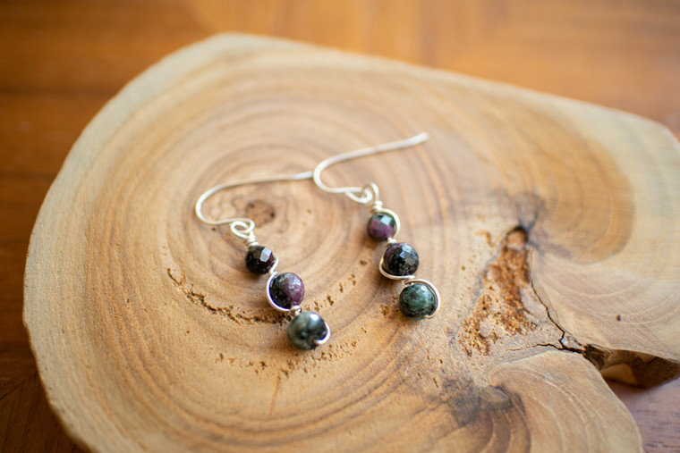Ruby Zosite Earrings - 55343