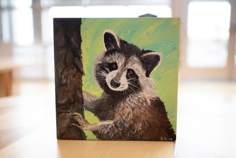 Rascal Raccoon Painting - 56081