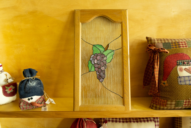 Framed 3D Grapes Stained Glass
