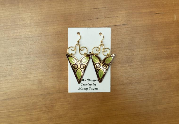 Hanging Tin Earrings
