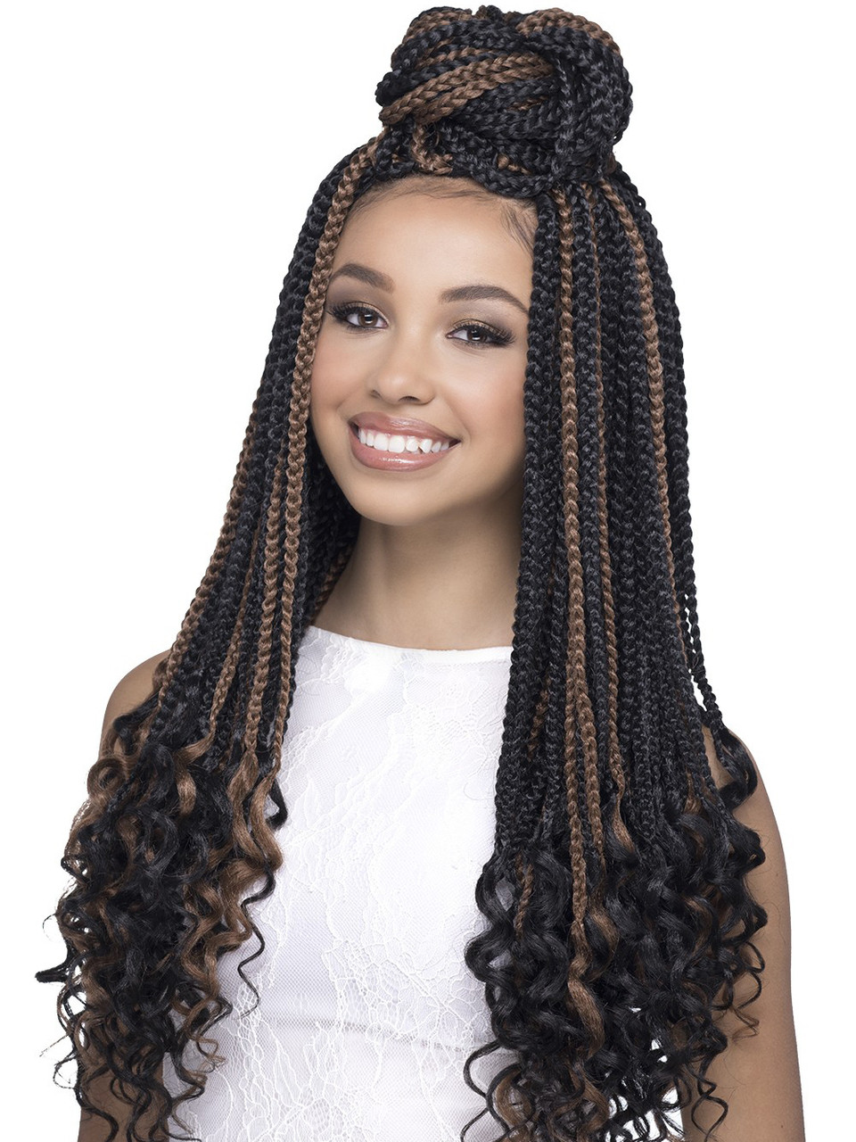 Royal Box 22 Curly Ends Synthetic Braids