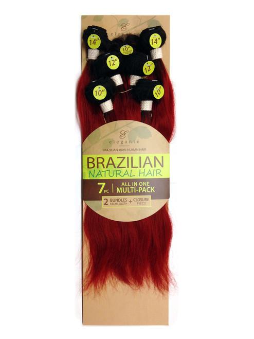 "Brazilian Weaving 14""/16""/18"" Pack Human Hair Extensions"