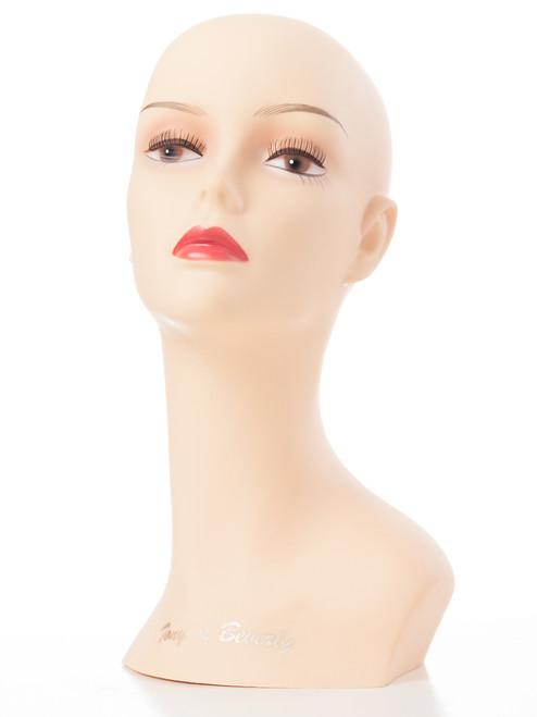 15 inch Lady Flesh Mannequin Head