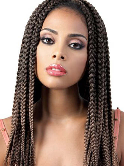 Crochet Silky Featherlite Pre Loop Big Box Braid 20x2 Weave Motown
