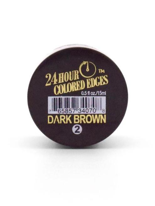 24Hour Colored Edge Tamer - Dark Brown