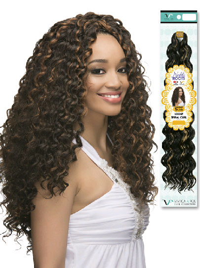 "latch hook loose spiral curl 19"" synthetic weave extensions"
