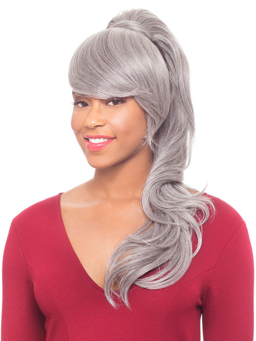 Duet 3 Heat Friendly Synthetic Drawstring Ponytail