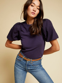 Stacey Tee with Bubble Hem