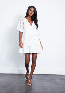 Irina Eyelet Mini Dress