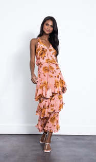 Cassandra Print Maxi Dress