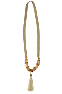 Slim Horse Hair Tassel Necklace - Valentine's Collection