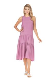 Tiered Tank Midi Dress