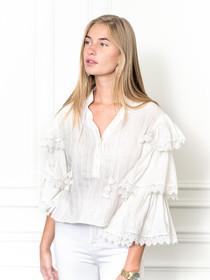 The Cream Tiered Sleeve Shirt