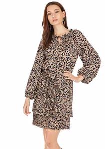 Animal Pleat Dress