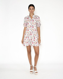Berry Botanical Mini Dress