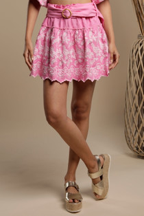 Soubre Embroidered Mini Skirt