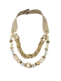 Layered Cowrie Rope Necklace