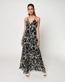 Ikat Silk Maxi Dress