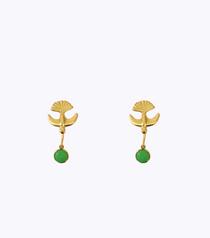 Hummingbird Chrysoprase Earrings