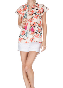 Ivory Lillies Top